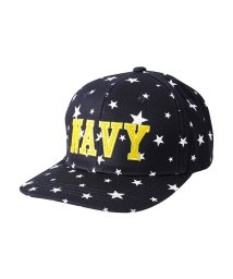 MAC HOUSE(kid's)/Navy ベースボールキャップ 星柄ロゴ WZ189-KZ026/501396800