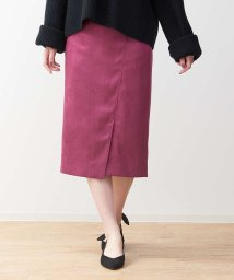 Rouge vif la cle/スエードミディタイトスカート/501397339
