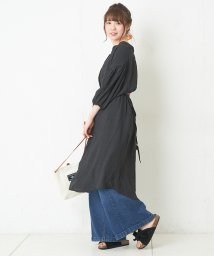 NICE CLAUP OUTLET/ロングシャツワンピース/501387255