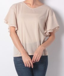 NICE CLAUP OUTLET/【natural couture】ラッフルフリル袖Tシャツ/501387290