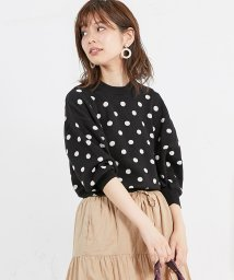 NICE CLAUP OUTLET/【natural couture】レトロドットジャガード/501387291