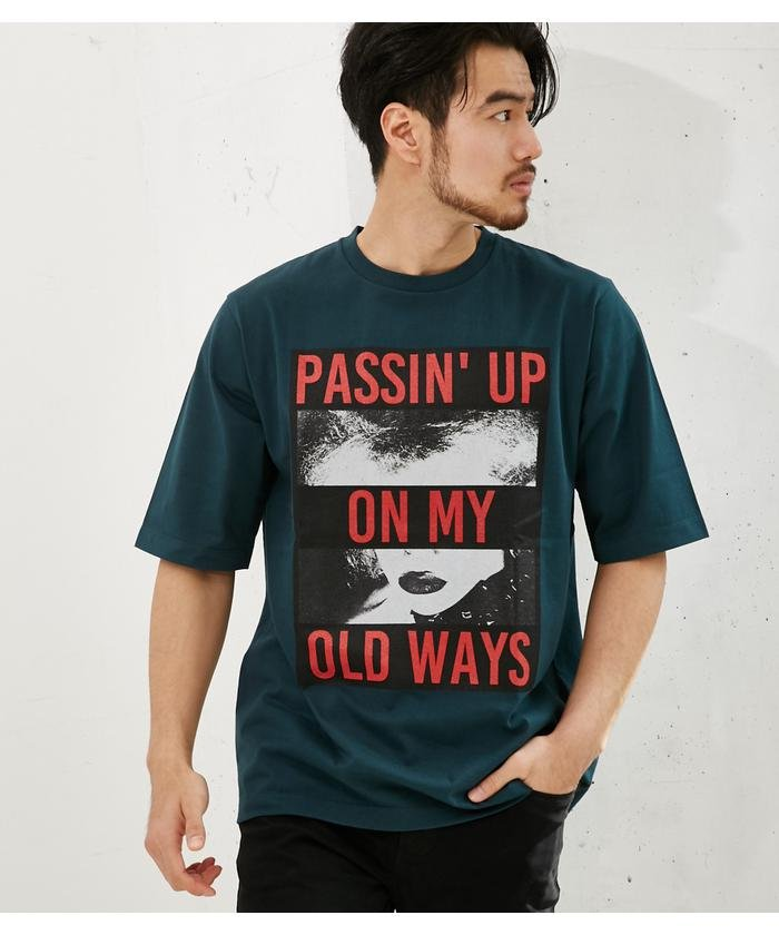 PASSIN UPクルーネック半袖T