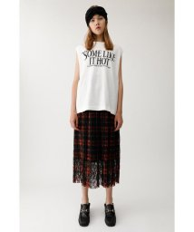 moussy/PLEATED LACE スカート/501400898