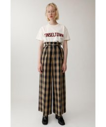moussy/SHADOW CHECK BELTED パンツ/501400902