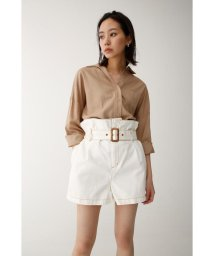 moussy/HIGH WAIST BELTED ショートパンツ/501401128