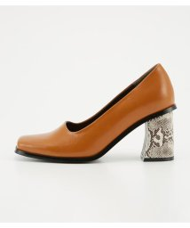 SLY/AUTUMN SQUARE TOE HEEL PUMPS/501401365
