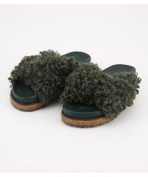 Rodeo Crowns/ボア クロス サンダル/501401759