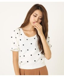 rienda/Dot mix knit TOP/501403884