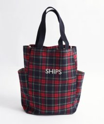 SHIPS WOMEN/サイドポケットトートバッグチェック◇/501406570