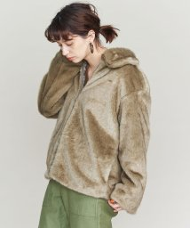 BEAUTY&YOUTH UNITED ARROWS/フェイクファージップブルゾン/グレー/501407676