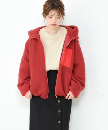 NICE CLAUP OUTLET/【natural couture】ボアフードパーカー/501408625