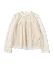BEAMS OUTLET/Demi-Luxe BEAMS / ギャザーネック レースブラウス 19FO/501411257