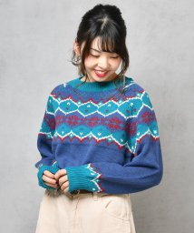NICE CLAUP OUTLET/雪柄ニット/501395661