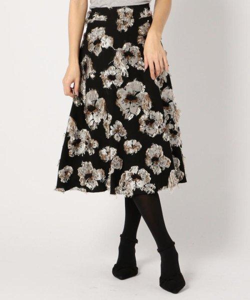MISCH MASCH(ミッシュマッシュ)/花柄ジャカードフレアースカート/850000305119682