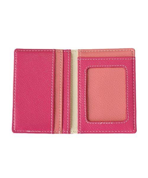 バックヤードファミリー ICカード1枚読みケース 二つ折り ユニセックス ピンク パスケース 【BACKYARD FAMILY】