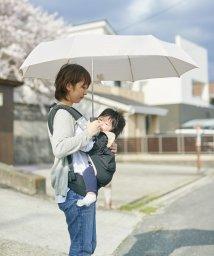 En Fance/軸をずらした折りたたみ傘「Sharely」 アーモンドベージュ/501394079