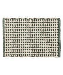 En Fance/maison de repit インド綿100%ラグ ユール 45×100cm グリーン/501394181