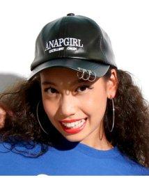 ANAP GiRL/リング付フェイクレザーCAP/501407225