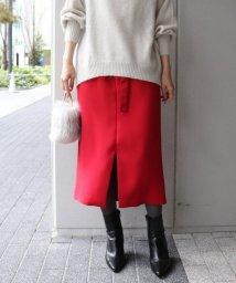 NOBLE/ピーチサテンセミタイトスカート◆/501414867
