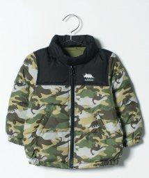 kladskap/恐竜刺しゅうフード内蔵型ダウンジャケット/501409999