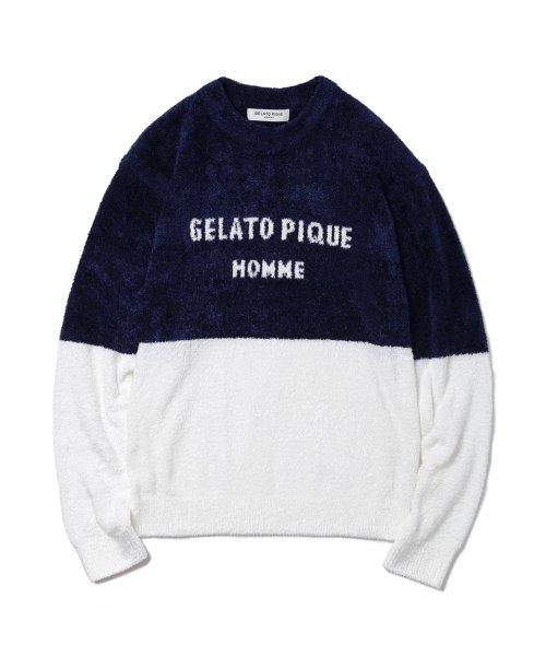 GELATO PIQUE HOMME(GELATO PIQUE HOMME)/【GELATO PIQUE HOMME】'スムーズィー'バイカラージャガードプルオーバー/PMNT185931