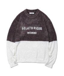 GELATO PIQUE HOMME/【GELATO PIQUE HOMME】'スムーズィー'バイカラージャガードプルオーバー/501416132