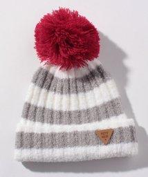 petit main/【新生児向けサイズ】もこもこ配色ボーダーニット帽/501407937