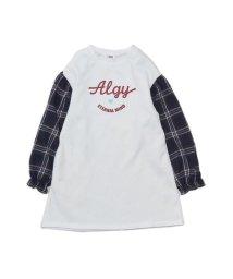 ALGY/異素材スリーブワンピ_裏起毛/501411713