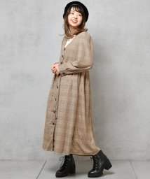 NICE CLAUP OUTLET/【natural couture】パワショル前ボタンワンピース/501412070