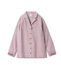gelato pique/ストライプロゴシャツ/501417308