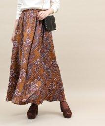 ROPE' mademoiselle/ペイズリーギャザーロングスカート/501418236