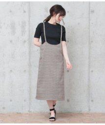 AULI/サスペンダー付スカート/501366902