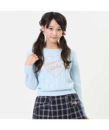 ALGY/ニコ☆プチ12月号掲載 | ハートロゴケーブルニット/501374635