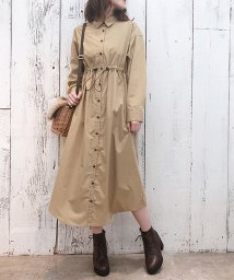 NICE CLAUP OUTLET/【one after another】ロングシャツワンピース/501412058
