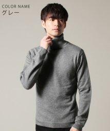 THE CASUAL/(スプ) SPU 12ゲージカシミヤミックス天竺タートル長袖ニット/501413732