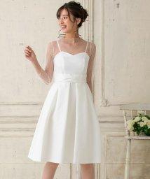 form forma/【結婚式・ウエディングドレス】ドットチュールインナー付き フレアショートウェディングドレス/501414532