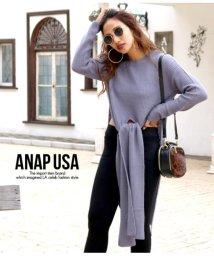 ANAP USA/スリットロングニットトップス/501418958