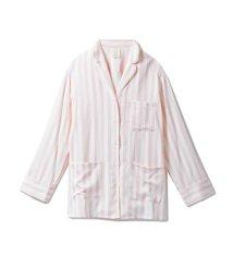 gelato pique/アニバーサリーストライプサテンシャツ/501420374