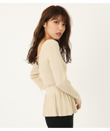 rienda/MIX Pattern Knit ペプラムTOP(2)/501420830