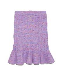 Lily Brown/裾フレアニットスカート/501421375