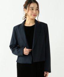 Demi-Luxe BEAMS/LAQUINTANE / ピークドラペル クロップドジャケット/500991881