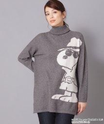 Leilian PLUS HOUSE/【ウィンターコレクション掲載商品】SNOOPYビッグモチーフセーター/501376443