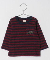 petit main/ポケットつきボーダーTシャツ/501411974