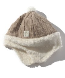 petit main/ボア耳あてつきアクリルニット帽/501411986