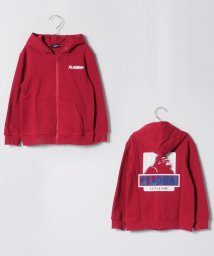 XLARGE KIDS/OGゴリラプリント入り裏毛ジップパーカー/501411990