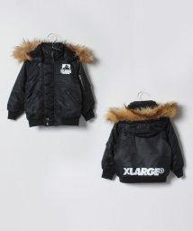 XLARGE KIDS/ロゴ入りフードつき中わたジャケット/501411993