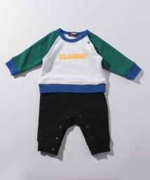 XLARGE KIDS/ロゴ入り裏毛ロンパース/501411998