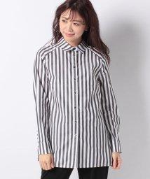 LAPINE BLEUE/【洗える】サイロストライプシャツ/501414090