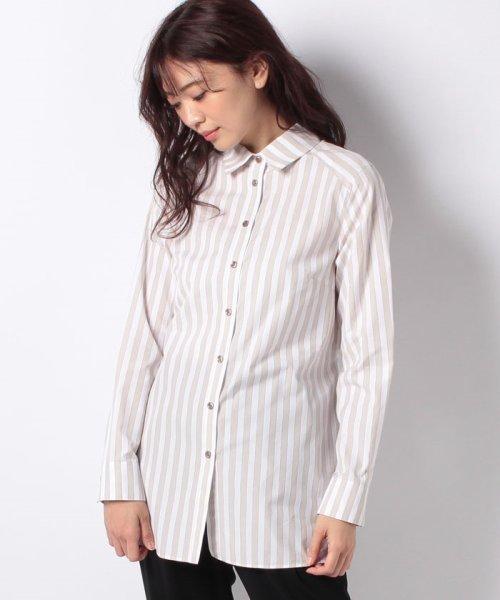 LAPINE BLEUE(ラピーヌ ブルー)/【洗える】サイロストライプシャツ/230845