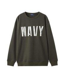 MAC HOUSE(men)/Navy 温℃ 裏シャギートレーナー 384130MH/501420464
